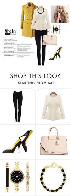 """""""SheIn"""" by alien-official ❤ liked on Polyvore featuring Lee, Christian Louboutin, GUESS, Style & Co. and Louise et Cie"""