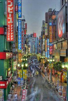Tokyo, Japan--streets of Shinjuku