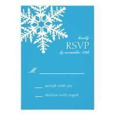 Jumbo Snowflake RSVP Cards (Blue) Announcement