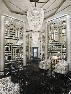 St Regis Bal Harbour - Miami Beach Hotels: The St. Regis Bal Harbour Resort - Hotel Rooms at stregis Design Hotel, House Design, Design Design, Design Trends, Urban Deco, Hall Of Mirrors, Mirror Mirror, Mirror Tiles, Mirror Room