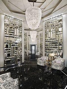 St Regis Bal Harbour - Miami Beach Hotels: The St. Regis Bal Harbour Resort - Hotel Rooms at stregis Design Hotel, House Design, Design Design, Design Trends, Urban Deco, Yabu Pushelberg, Hall Of Mirrors, Mirror Mirror, Mirror Tiles