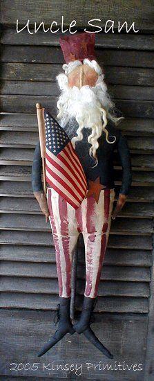 Uncle Sam Primitive Patriotic Doll Craft