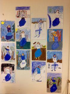 Primary School Art, Elementary Art, Art School, Diy And Crafts, Crafts For Kids, Arts And Crafts, Crafty Kids, Winter Art, Teaching Art