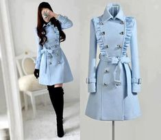 Made to order cashmere jacket coat dress Teen Fashion Outfits, Mode Outfits, Casual Outfits, Fashion Dresses, Fashion Coat, Teen Girl Fashion, Winter Fashion Boots, Outfit Winter, Fashion Models