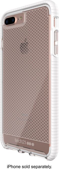 Tech21 - EVO Check Case for Apple® iPhone® 7 Plus - White/Clear, 47734BBR