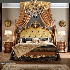 - Architecture and Home Decor - Bedroom - Bathroom - Kitchen And Living Room Interior Design Decorating Ideas - Italian Bedroom Furniture, Royal Furniture, Bedroom Furniture Sets, Bed Furniture, Furniture Styles, Home Decor Bedroom, Luxury Furniture, Furniture Design, Wooden Furniture