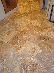 travertine tile floor photos - Google Search