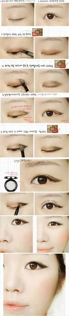 Korean style eye makeup #eyes #makeup #pictorial