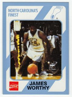 Please Click Through to Purchase this Collectible Card. College Basketball, Basketball Players, Carolina Blue, North Carolina, James Worthy, Dean Smith, Unc Tarheels, Collectible Cards, Final Four