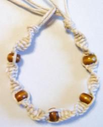 Hemp and Bead twist anklet I can make these :)