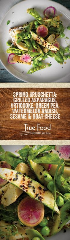 Find a new favorite on our recently-released spring menu! Featured: Spring Bruschetta