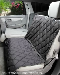 Split Rear Car Back Seat Cover - Hammock Option - Black Regular
