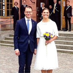 Crown Princess Victoria of Sweden and Crown Prince Daniel of Sweden attended the citizenship ceremony at the Uppsala Castle on June 6, 2015 in Uppsala, Sweden.