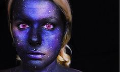 Dark Galaxy Makeup Idea | Galaxy Makeup Idea