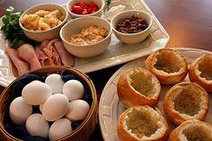 Breakfast bread bowls- perfect!y little one loves bread!