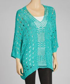 Green Crocheted Poncho | Daily deals for moms, babies and kids