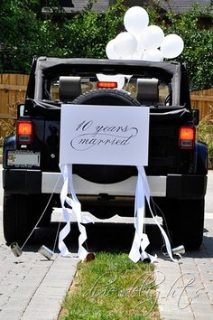 Cute anniversary idea! And more important accomplishment to celebrate than your wedding day!