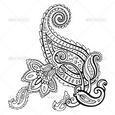 Illustration about Paisley. Illustration of hand, hinduism, flower - 35476490 Paisley Stencil, Paisley Art, Paisley Design, Paisley Pattern, Paisley Coloring Pages, Easy Coloring Pages, Printable Adult Coloring Pages, Coloring Pages To Print, Coloring Books