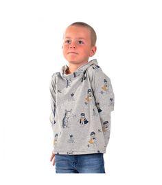 Camiseta de niño con un estampado original y muy divertido, de cuello alto y ancho. Algodon organico certificado GOTS.  Hecho a mano en el Pais Vasco. BAGARA