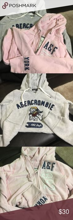 A&F Bundle 2 brand new hoodies in excellent condition. Very soft and thick material. Cute designs. Both are size M but could fit a S too. Abercrombie & Fitch Sweaters