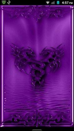 Purple Dragon Wallpaper   View bigger - Purple Metallic Dragon 2012 for Android screenshot