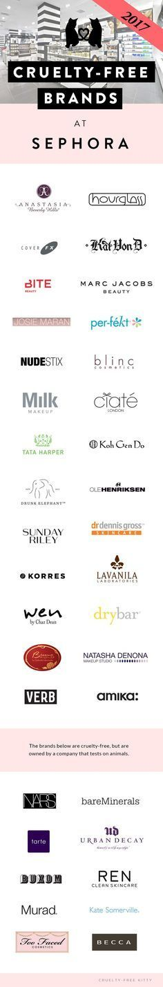 List of cruelty-free brands at Sephora