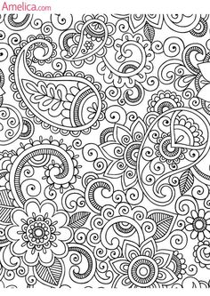 Adult Coloring Pages Sheets Books Printable Mandala Drawing Paisley Doodle Color Patterns
