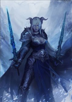 World of Warcraft Art — Draenei Death Knight [Artist: D仔 . Dark Fantasy Art, Fantasy Images, Fantasy Artwork, Draenei Female, Wow Draenei, Knight Art, Dragon Knight, World Of Warcraft Characters, Fantasy Characters