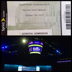 Last time I came to Sprint Center was at Maroon 5's concert. This time is to Neal's Keynote at Cerner Health Conference. So proud to work for such a great company! #proudcernerassociates #CHC15