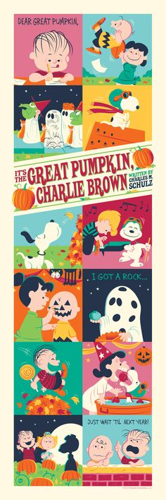 It's The Great Pumpkin, Charlie Brown - silkscreen movie poster (click image for more detail) Artist: Dave Perillo Venue: N/A Location: N/A Date: 2013 Edition: numbered Size: x Condition: Holidays Halloween, Halloween Crafts, Happy Halloween, Halloween Decorations, Peanuts Halloween, Halloween Poster, Halloween Greetings, Halloween Images, Halloween Stuff