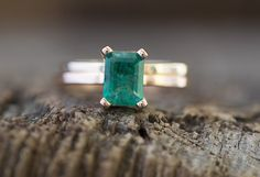 Custom Natural Emerald Ring