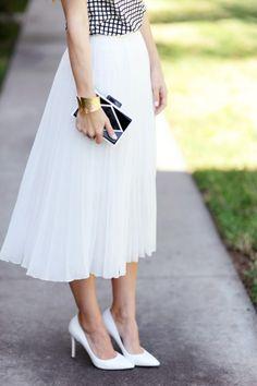 Adorable white skirt: http://www.stylemepretty.com/living/2015/04/07/long-sleeve-to-short-sleeve-refashion/ | Photography: Merrick's Art - http://www.merricksart.com/
