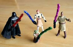 Pipe Cleaner Lightsaber Crafts for Star Wars Toys - Great for your Angry Birds Star Wars groups! So much therapy potential! | Pinned by @SpeechyKeenSLP | find more information on gamification in speech-language therapy at www.speechykeenslp.com