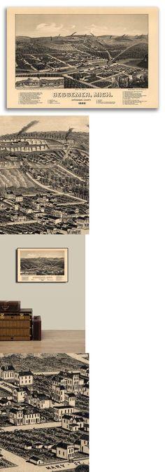 1890 Helena Montana Vintage Old Panoramic City Map 24x36