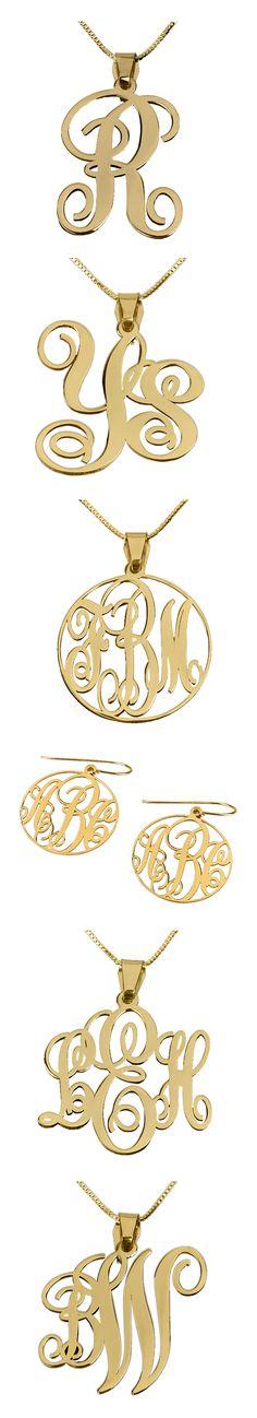 Fantastic Monogram Necklaces!!!