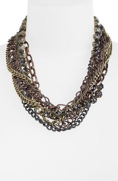 Natasha Couture Multi Strand Statement Necklace
