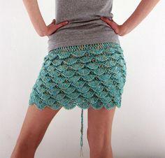 Crochet mini skirt  via Etsy.