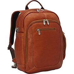 Buy the Piel Laptop Backpack Handbag at eBags - Sized to hold your laptop and personal items, this leather backpack offers fashion and function for