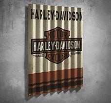 harley-davidson metal signsecondhandmetalart on etsy harley