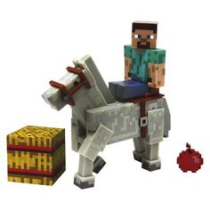 Minecraft Steve with Horse Pack