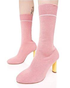 Rose Soft Flicker Sock Boots