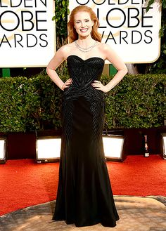 Jessica Chastain wears Givenchy at the 2014 Golden Globes