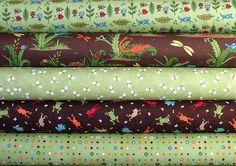 SALE Half Yard Bundle of Meadow Friends in by SistersandQuilters, $19.60