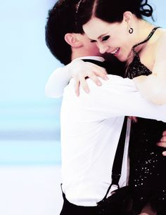 tessa and scott- sochi short dance. A picture that captured everyone in Canada's feeling after they finished this