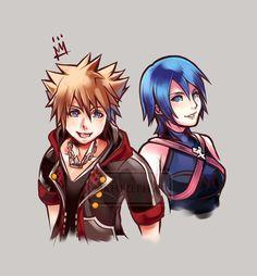 KH3 Sora and Aqua