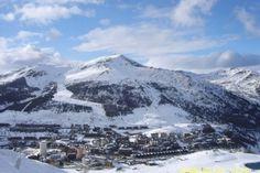 Sestriere Ski Slopes view of town