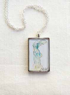 """Winged Victory"" (Nike of Samothrace) Art Necklace Greek Statue by SarahLambertCook, $ 26.00"