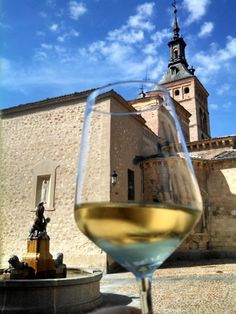 View from the Canas Y Tapas restautant in Segovia, Spain. Great place to relax with a glass of wine and some tapa. Segovia is an easy day trip from Madrid that shouldn't be miss if you are planning a trip to Spain.