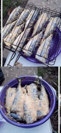 """Mackerel on the barbecue """"Picnic at home""""- Скумбрия на мангале «Пикник у дома Shellfish Recipes, Meat Recipes, Cooking Recipes, Whole Fish Recipes, Slimming World Chicken Recipes, Food Shopping List, Fish Dinner, Mediterranean Diet Recipes, Russian Recipes"""