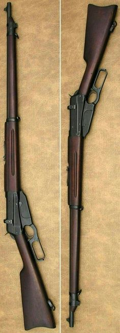 Winchester magazine fed lever action rifle It looks like a bad lovechild of a mosin nagant & a lever action